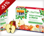 Zumo orgánico de frutas Fruttini Manzana